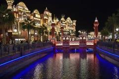 Global Village entertainment park India pavilion at night royalty free stock photo