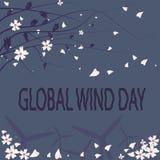 Global vinddag stock illustrationer