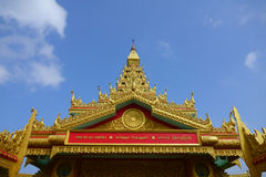 Global Vipassana Pagoda entry inset. Intricate design of Global Vipassana Pagoda entry inside view Stock Photography