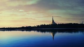 The Global Vipassana Pagoda. Is a Meditation Hall near Gorai, Mumbai, India. It has been built out of gratitude to the Buddha, his teaching and the community of royalty free stock image