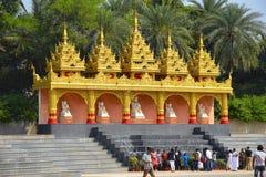 The Global Vipassana Pagoda. Meditation Hall near Gorai, North-west of Mumbai stock images