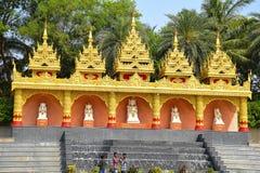The Global Vipassana Pagoda. Meditation Hall near Gorai, North-west of Mumbai stock photo