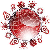 Global Viruses 3D Royalty Free Stock Images