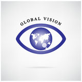 Global vision sign,eye icon,search symbol. Royalty Free Stock Image