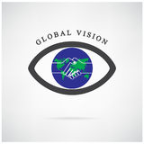 Global vision sign,eye icon,search symbol,business concept. royalty free illustration