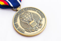 Global War on Terror Medal. Awarded for service in the global war on terror stock photography