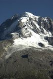 Global Warming!. A glacier receding in the Frewnch Alps Stock Photo