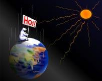 Global warming. An illustration of Global warming Royalty Free Stock Photo