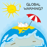 Global Warming. Illustration of warning about the dangers of global warming Stock Photography
