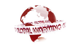 Global warming. Around the earth Stock Illustration