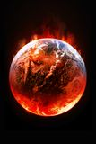 Global Warming. Abstract image of earth Warming Royalty Free Stock Image