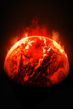 Global Warming. Abstract image of Earth Warming Stock Photography