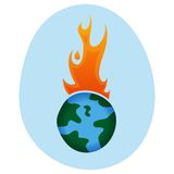 Global Warming -. World On  Fire - Vector Illustration Stock Photography