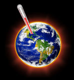Global warming. Concept of global warming threat Stock Photo