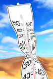 Global warming. White thermometer close up, concept of global warming Stock Images