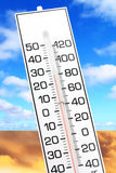 Global warming. White thermometer close up, concept of global warming Royalty Free Stock Photo