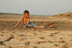 Child and climate change. Stock Images
