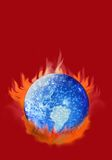 Global Warming. Are we cooking the global climate or is it a natural cycle? The controversy goes on Royalty Free Stock Photo
