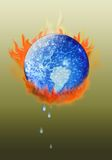 Global Warming. Are we cooking the global climate or is it a natural cycle? The controversy goes on vector illustration