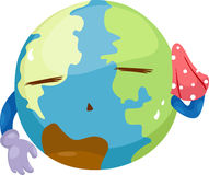 Global warming. Illustration on a white background Royalty Free Stock Photos