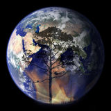 Global Warming. A graphic depiction of the dangers to the environment Royalty Free Stock Photography