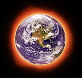 Global warming. Conceptual image: earth and global warming royalty free illustration