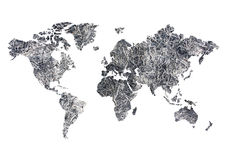 Global warming. World map are global warming Royalty Free Stock Photo