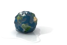 Global warming. Melting ice on the Earth, concept Royalty Free Stock Photo