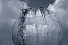 Global warming. Old chemical tank in decay - Denmark Stock Images