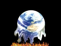 Global warming. Planet earth Vector Illustration