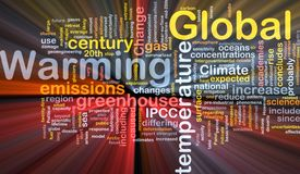 Global warming background concept glowing Stock Photography