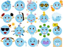 Global warming - Blue Planet icons Stock Images