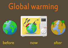 Global warming. And climate change on Earth. Infographics vector illustration Stock Image