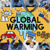 Global Warming Climate Environmental Industry Concept Royalty Free Stock Photography