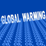Global warming with CO2 Royalty Free Stock Photos