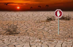 Global warming. Composite image made from my own photos. Image symbolizes ecological disasters Stock Image