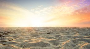 Global warming concept: sand dunes under dramatic evening sunset sky at drought desert landscape royalty free stock image