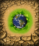 Global warming concept. Planet in need of fresh water Royalty Free Illustration