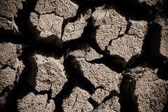 Global warming concept of cracked ground Royalty Free Stock Photos