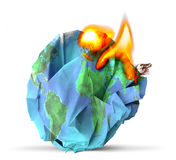 Global warming concept 3D illustration Royalty Free Stock Photography