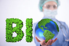 The global warming concept - earth day concept Royalty Free Stock Photography