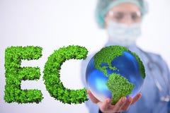 The global warming concept - earth day concept Stock Photos