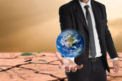 Global warming concept.Elements of this image are furnished by NASA Royalty Free Stock Image
