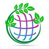 Green earth global warming save planet pollution free world design. Global warming concept green earth save planet mission logo pollution free world design vector illustration