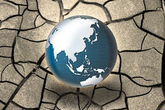 Global warming concept - Photo composition with image from NASA Stock Image