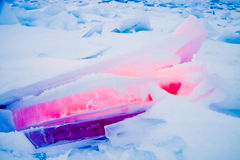 Global warming concept of red hot ice Royalty Free Stock Photos