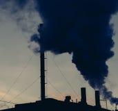 Global warming concept smokestack. Chimney Royalty Free Stock Photography