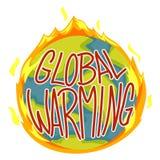 Global Warming Concept. Vector Illustration of Global Warming Concept Royalty Free Stock Image
