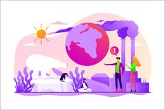 Global warming concept vector illustration. royalty free illustration