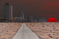 Global warming. Conceptual compositr image Royalty Free Stock Photography